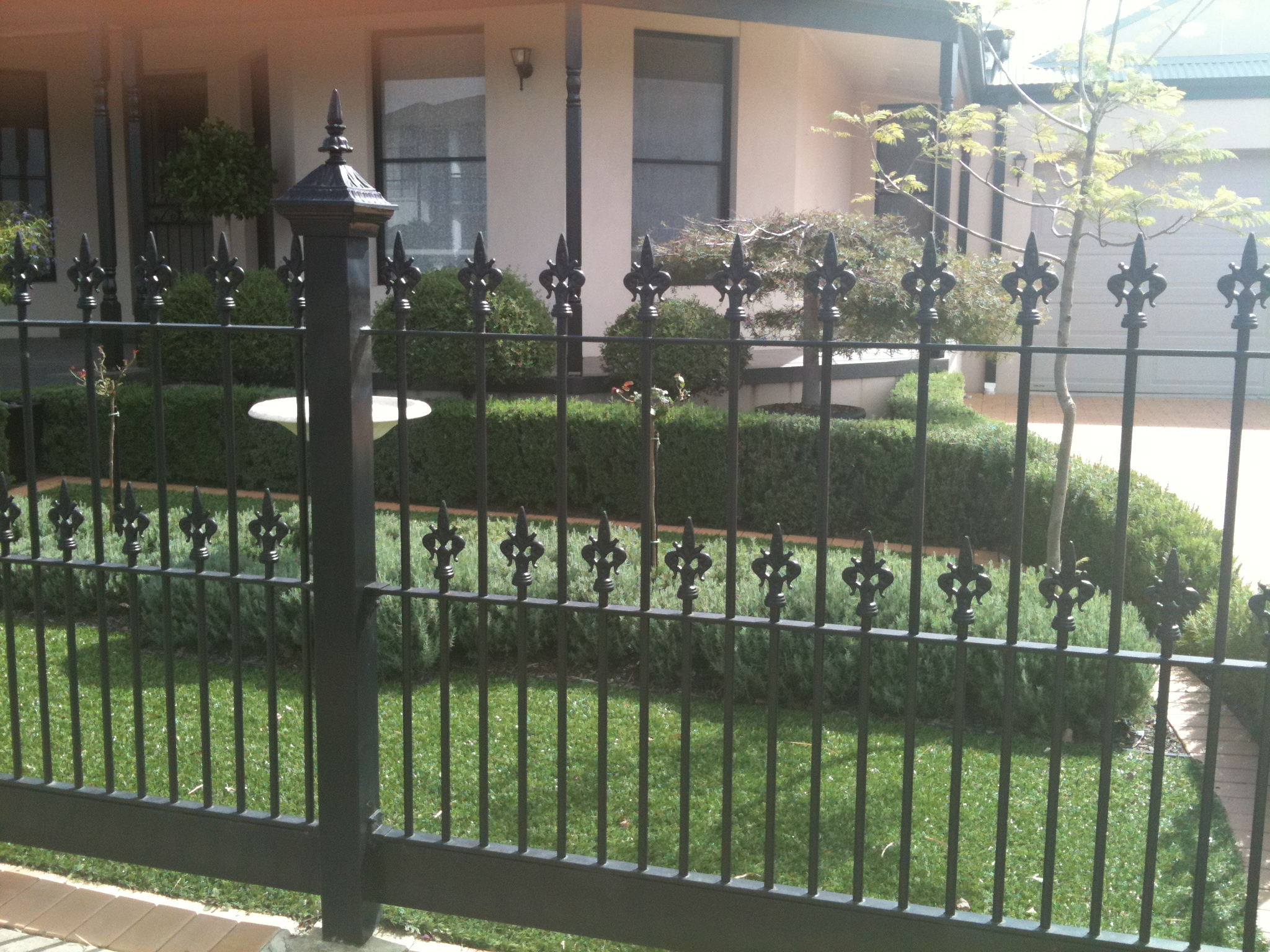 Wrought Iron Fence Design Ideas