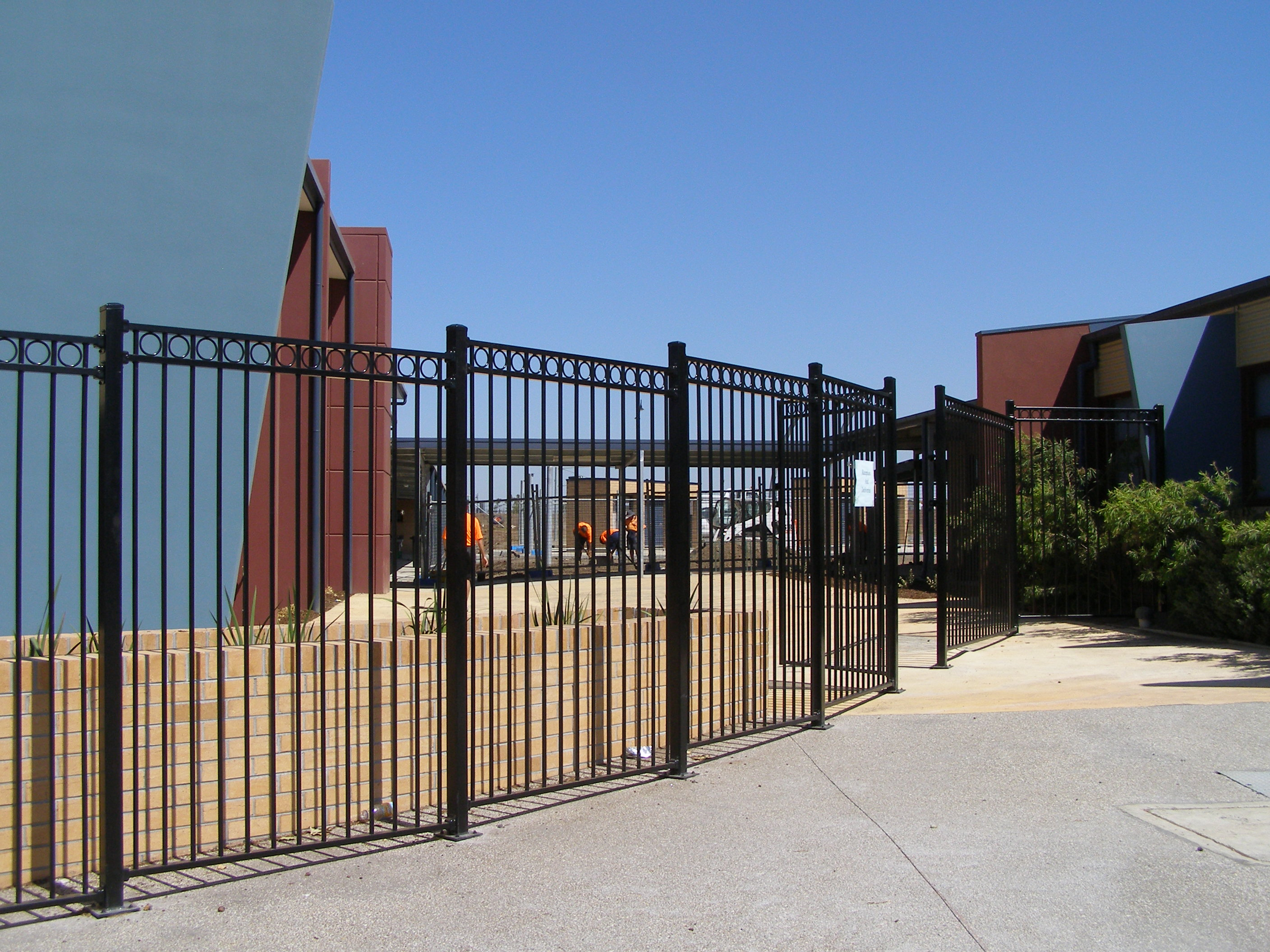 Security fencing melbourne steel factory