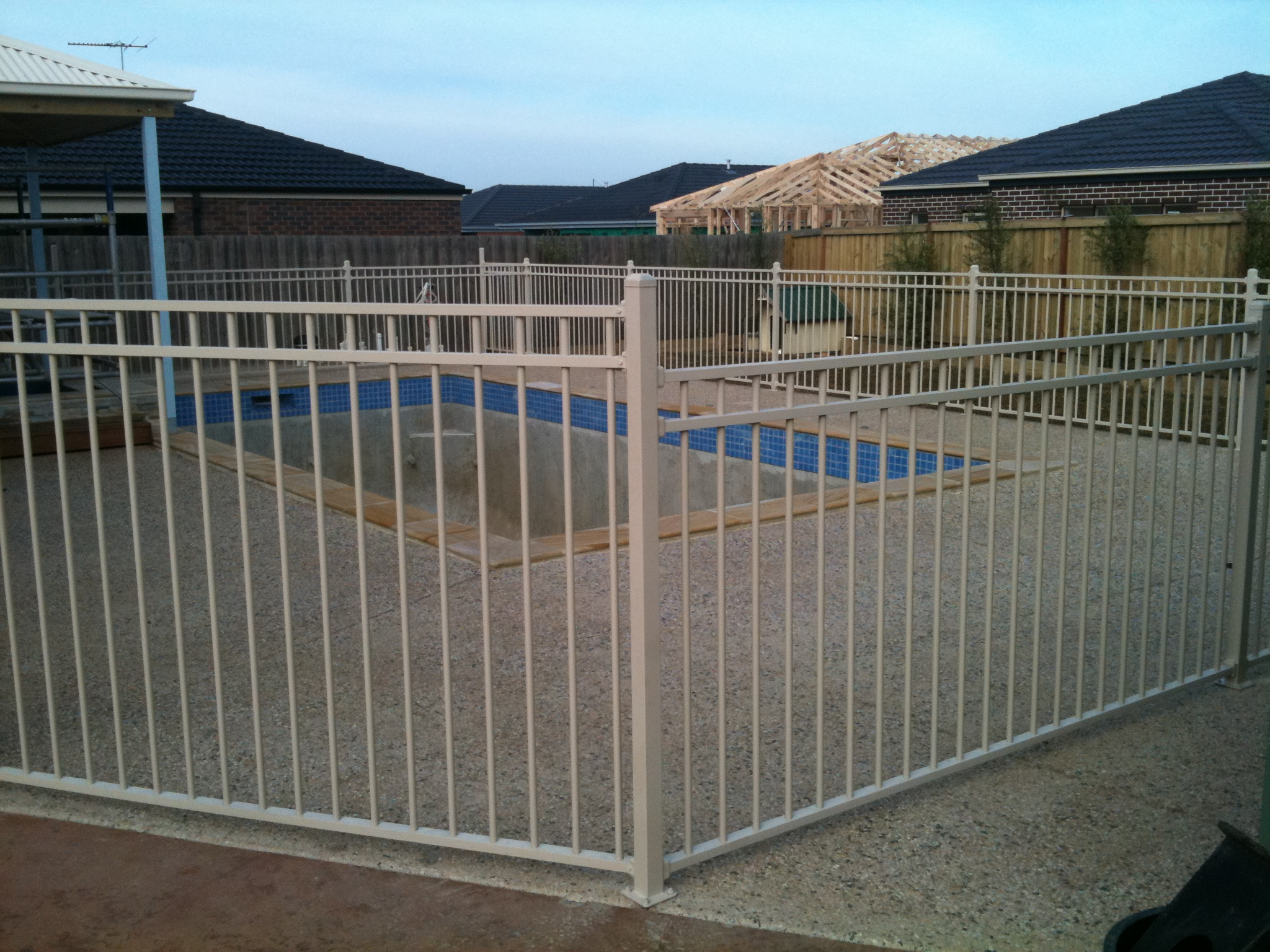 Pool Fence Paperbark Colour