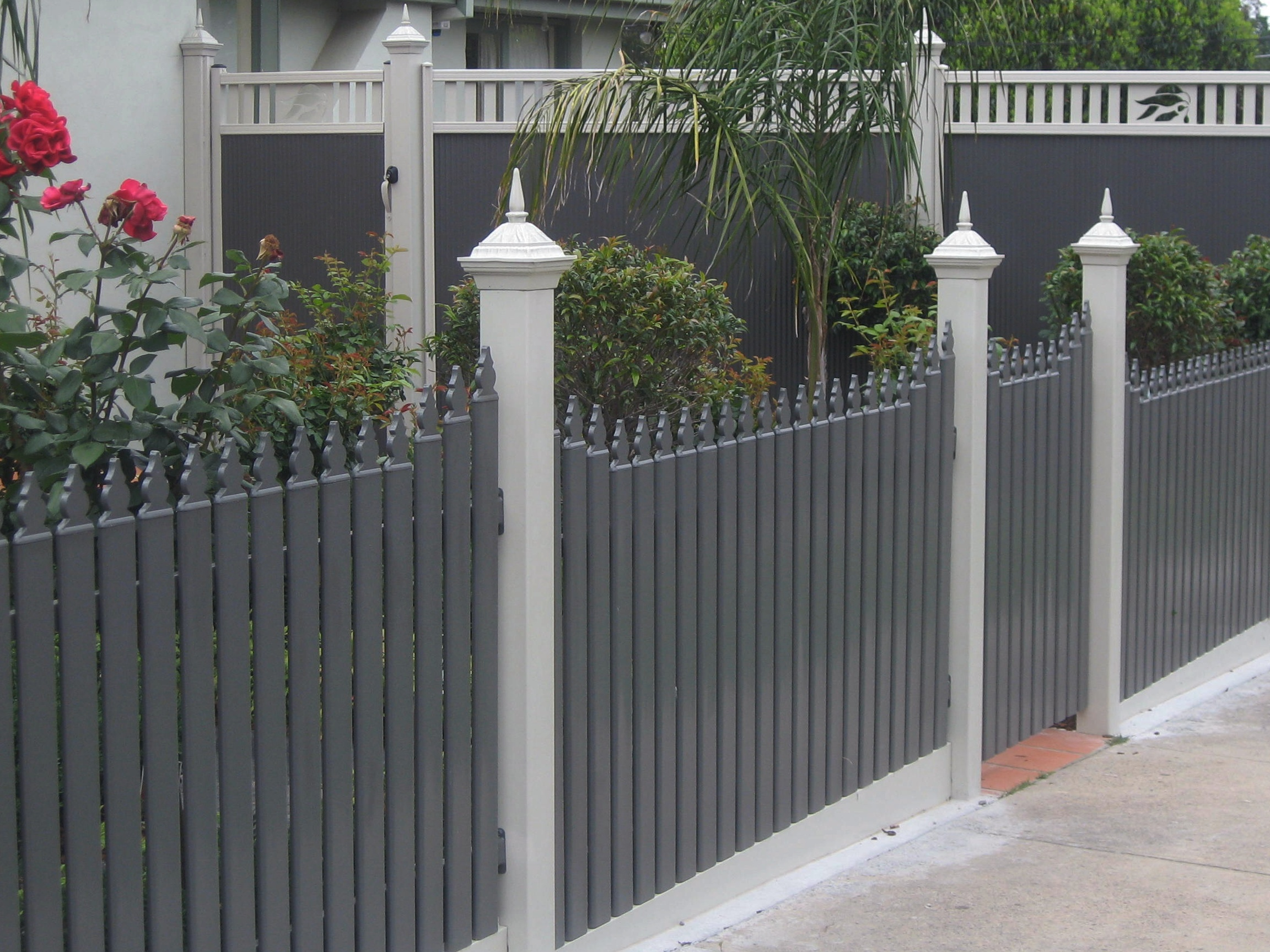 Corrugated Metal Fence Ideas Fence Made Using Old Diy Steel Fence